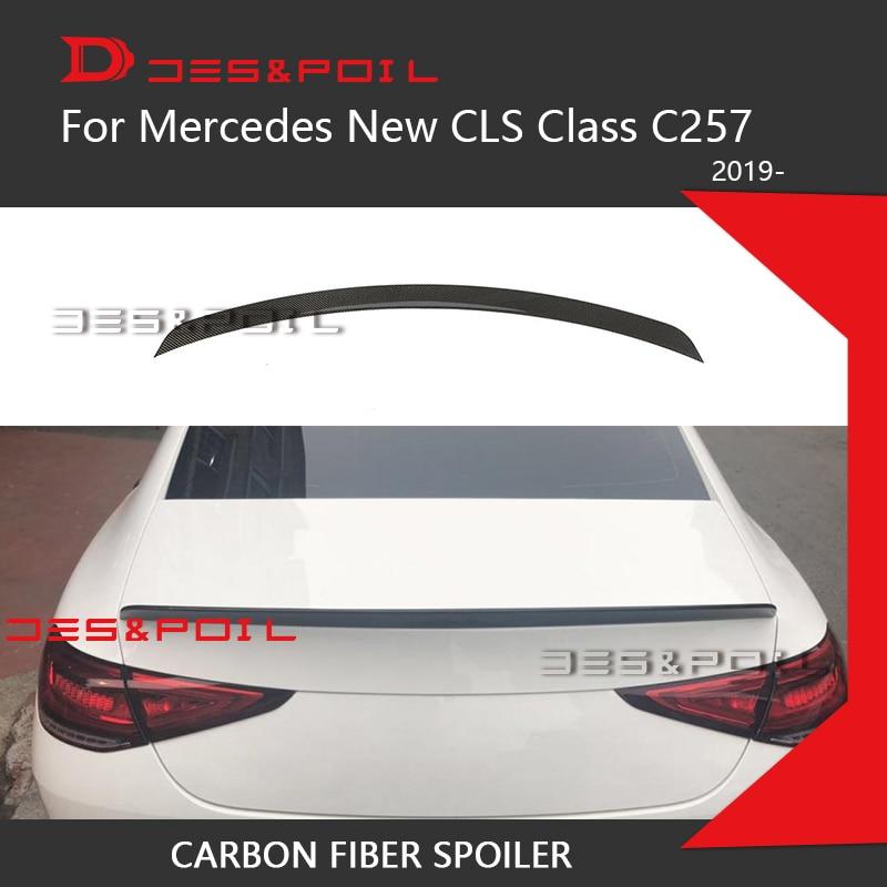 2019 nuevo CLS C257 alerón trasero del maletero de fibra de carbono labio del maletero AMG Brabs CS RT para mercedes-benz CLS300 CLS350 CLS450 CLS53 Sedán