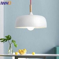 IWHD Iron Iluminacion LED Pendant Light Fixures Home Lighting Wood Modern Pendant Lamp Fashion Nordic Style Kitchen Hanglamp