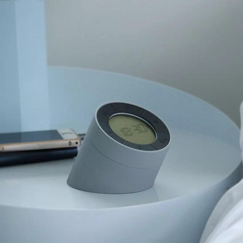 USB charging multi-function flip LED night light creative with alarm clock function digital clock macaron mini table lamp enlarge