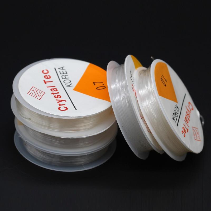 1/10 рулонов, 0,5/0,6/0,7/0,8/1 мм, прозрачный нейлоновый прочный тянущийся шнур, нить для ювелирных изделий, эластичная леска для изготовления ювелирных изделий