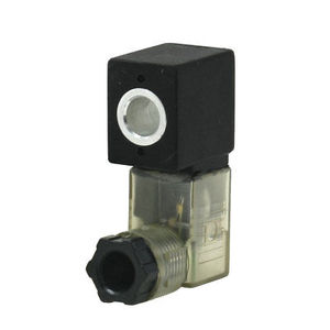 DC 24V Electrical Pneumatic Air Solenoid Valve Coil w LED Light
