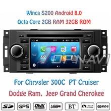"Topnavi 5"" S200 Android 8.0 Car DVD Multimedia Auto Player for Chrysler 300C PT Cruiser Dodge Ram Jeep Grand Cherokee Stereo GPS"