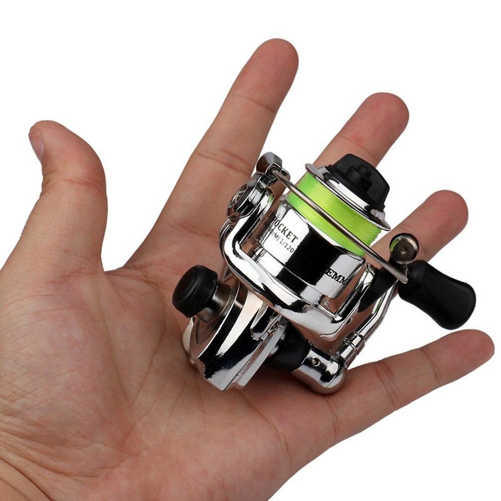 Mini XM100 kołowrotek 2 + 1 łożyska kulkowe ze stali nierdzewnej przynęty odlewania kołowrotki sprzęt wędkarski akcesoria