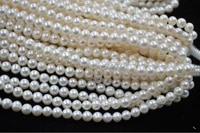 wholesale 5 strands 7 8mm white cultured pearl lots free shipping