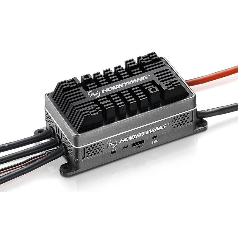 100% Hobbywing platino HV 200A dispositivos optoelectrónicos V4 Motor sin escobillas CES 6-14 para RC modelo de avión