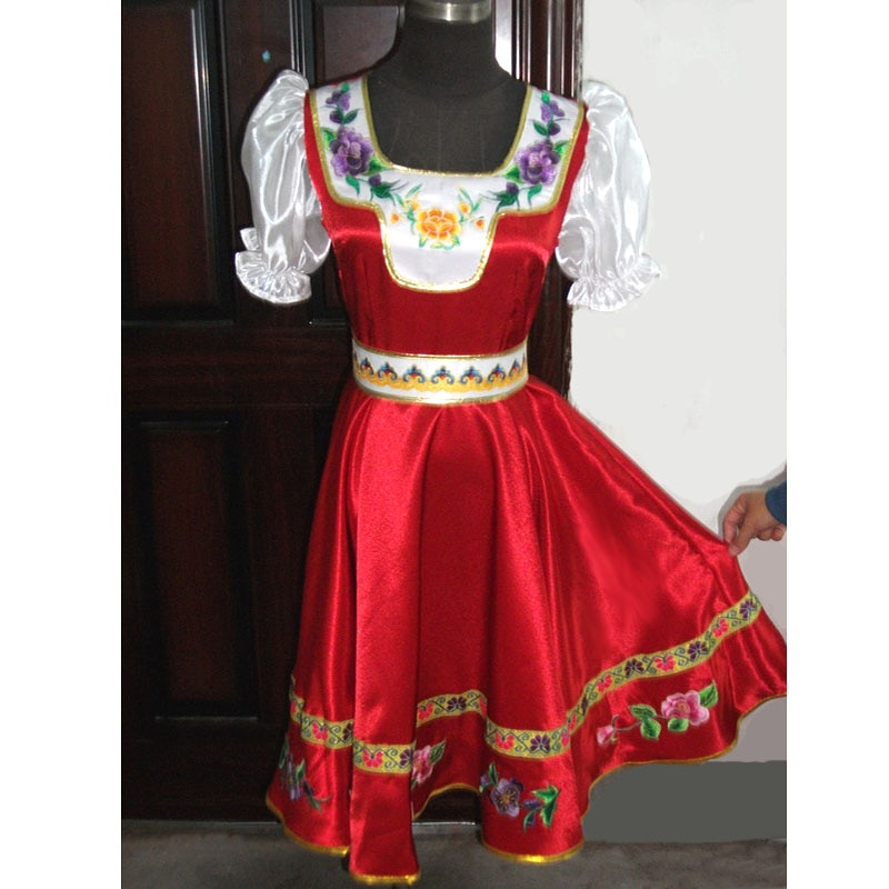 Индивидуальные российские народные танцевальные костюмы, платье для взрослых и детей, традиционная одежда для выступлений в России, одежда...
