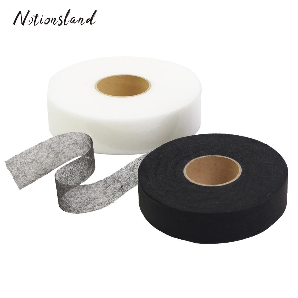 DIY 100m Iron-on Hemming Tapes Wonder Web Fusible Bonding Garment Accessories Black/White