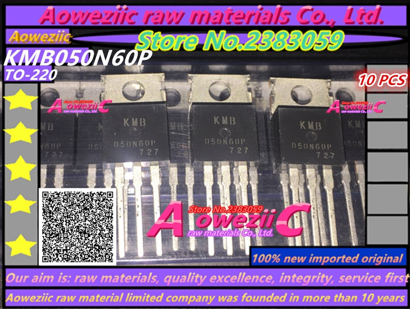 Aoweziic 100% original importado novo kmb050n60p 050n60p a-220 fet 50a 60 v