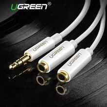 Ugreen Jack 3,5mm Kopfhörer Splitter Kabel für iPhone Samsung Computer 3,5mm 1 Stecker auf 2 Weibliche kopfhörer Audio splitter Adapter