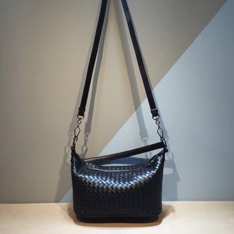 сумка женс factory outlet Genuine leather Handbag  The single shoulder bag Woman Internal and external dermis  Woven bag fashion