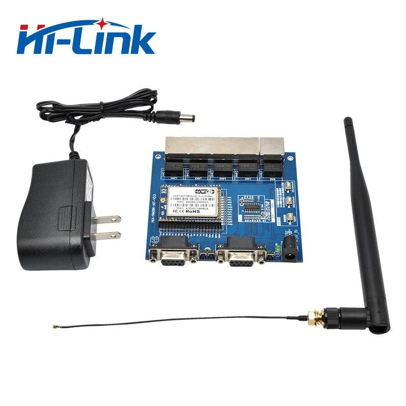 Frete Grátis HLK-RM08K WIFI módulo serial/four-porta ethernet dois-porta serial UART ao módulo WIFI MT7688K placa de desenvolvimento