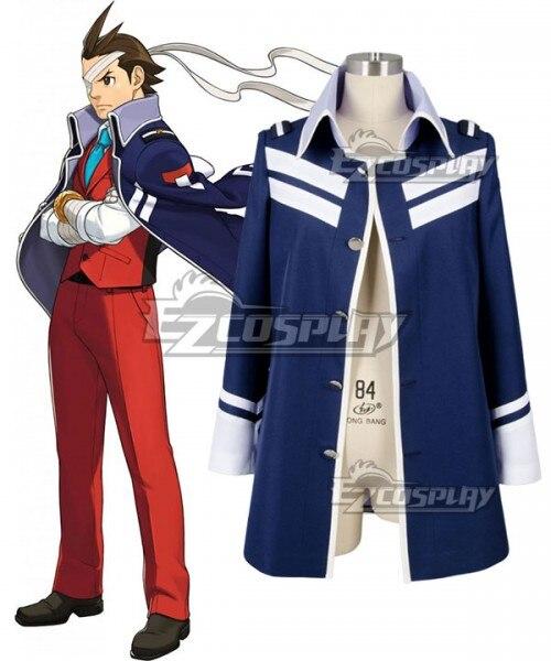 Ace Attorney Gyakuten Saiban Apollo justicia traje de Cosplay-único abrigo E001