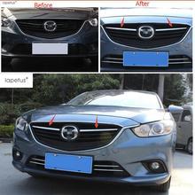 Lapetus-accessoires pour Mazda 6 berline & Wagon   2013 2014 2015 calandre centrale chromée, couvercle de Grille, garniture bandes de radiateur