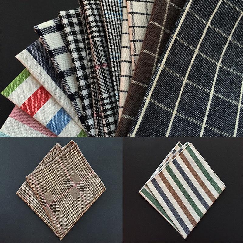 Высококачественный модный платок в клетку, хлопковый мужской нагрудный платок, банкетный нагрудный платок, тонкий аксессуар для одежды