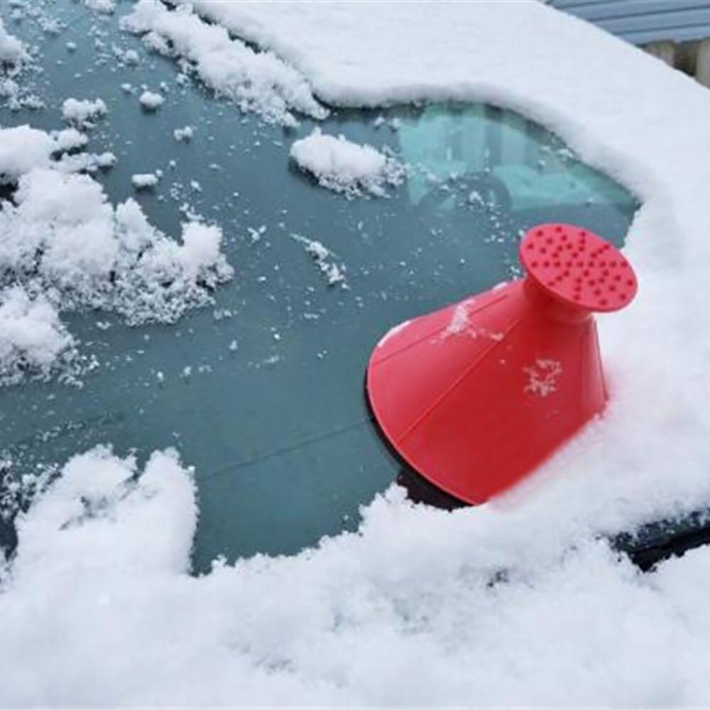 Removedor de pá mágica cone em forma de carro de inverno ao ar livre ferramenta neve brisa funil raspador gelo automóveis removedor de neve de vidro escova