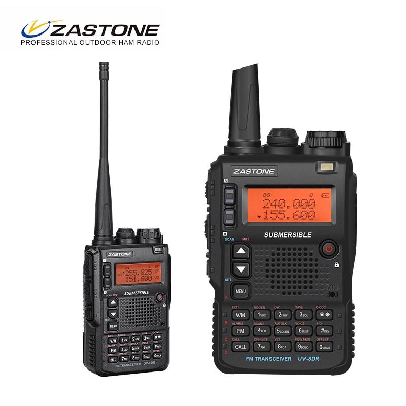 Zastone UV-8DR Mini Radio Walkie Talkie triband  VHF 136-174MHz 240-460MHZ UHF 400-520MHz CB Ham Two Way Radio