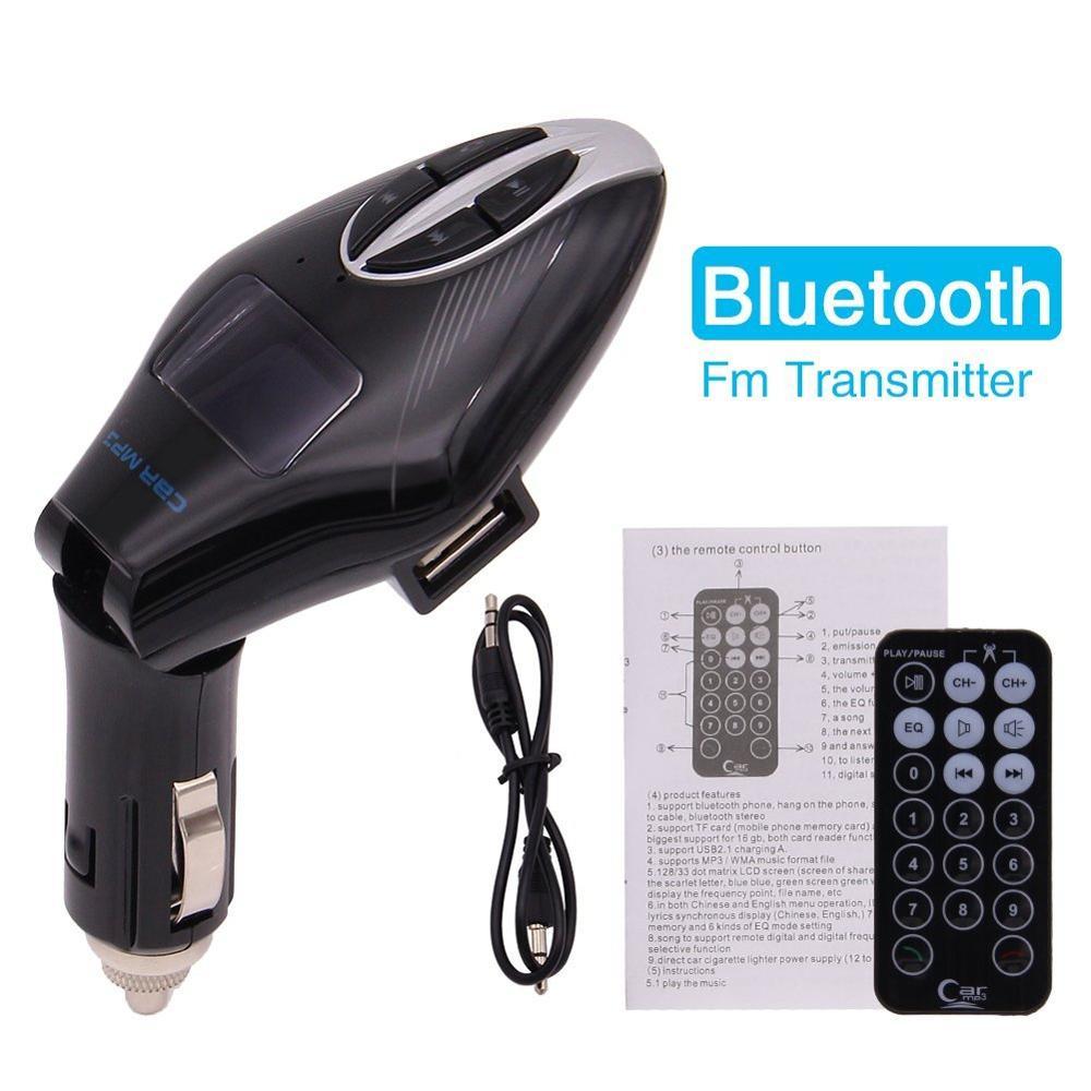 Adaptador de cargador de coche Bluetooth Kit de coche transmisor FM Radio reproductor Mp3 cigarrillo de coche con lector de tarjeta SD USB para tarjeta TF