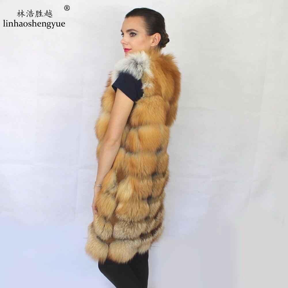 90CM Long Red Fox   Real  Natural Color Vest.