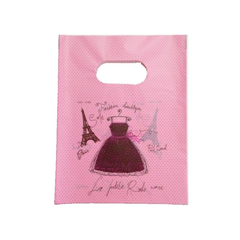 Новая-мода-100-шт-лот-15x20-см-платье-печать-розовый-пластиковый-мешок-пользу-браслет-ювелирные-изделия-упаковка-сумки-небольшой-Подарочный-па