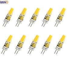 IWHD 2W COB G4 LED 12V ampoule 120LM Mini 220V LED G4 bi-broches lumières blanc chaud/blanc remplacer lustres halogène 10 pièces