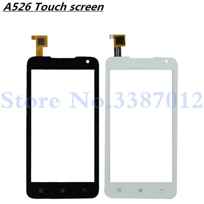 """4,5 """"reemplazo de alta calidad para Lenovo A526 A 526 pantalla táctil digitalizador Sensor Panel de lente de vidrio exterior"""