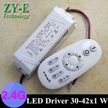 2 satz 42 Watt 220 v außerhalb fahrer intelligente 2,4G Wireless RF Fernbedienung lichter fahrer block shap30-42w decke fahrer