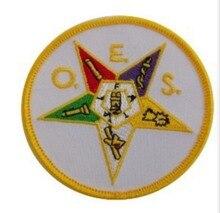 Badge de broderie de charme masonique   Badge masonique, chapitre de maçon, étoile de lest, vente en gros