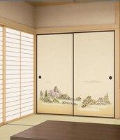 Japanese Fusuma Paper 2 Sheets/Pair Washitsu Woodblock Decor Decorative Door Wall Paper Soji Sliding Door  Bedroom, Living Room