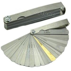 32 Blade Imp/Mertic + Brass Blade Feeler Gauge Tune Up Thickness Set New
