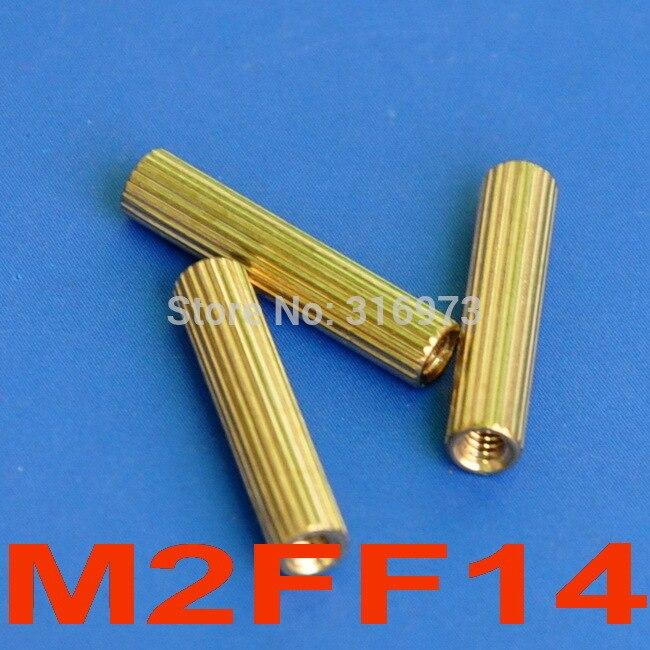 (1000 قطعة/الوحدة) 14 مللي متر الخيوط M2 النحاس المواجهة الإناث الإناث ، فاصل.