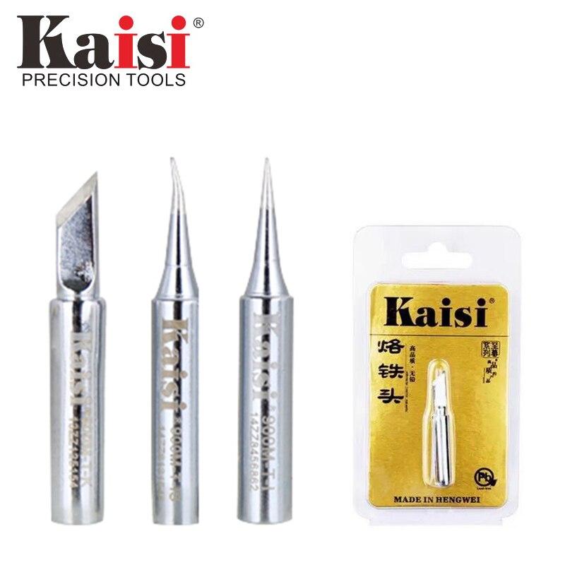 Kaisi de lujo de calidad 900M-T soldador sin plomo cabeza soldadura punta soldadura cabeza herramientas de soldadura para 936 retrabajo de soldadura