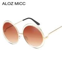 aloz micc brand oversize round sunglasses women fashion high quality alloy hollow frame sun glasses uv400 lady eyeglasses q172