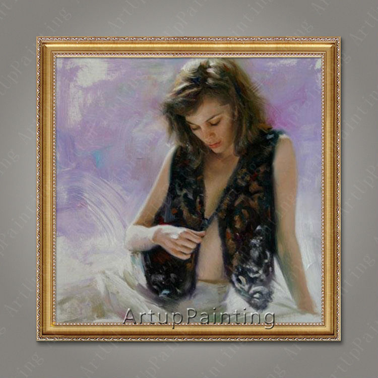 Pintura al óleo bailaora de flamenco española para mujer latina 27