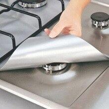 Protecteur réutilisable de brûleur de cuisinière à gaz   4 pièces, couvercle de revêtement pour le nettoyage des outils de cuisine