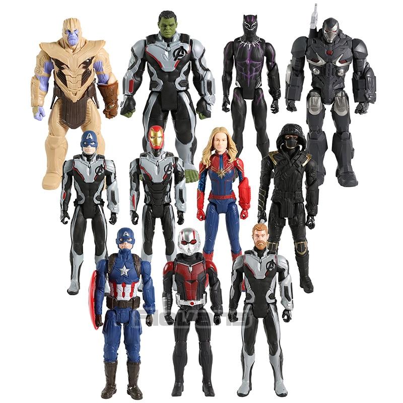Titan Hero Power FX Avengers Endgame Thor Ant-man Captain America War Machine Ronin Hulk Thanos Iron Man Action Figures Toy