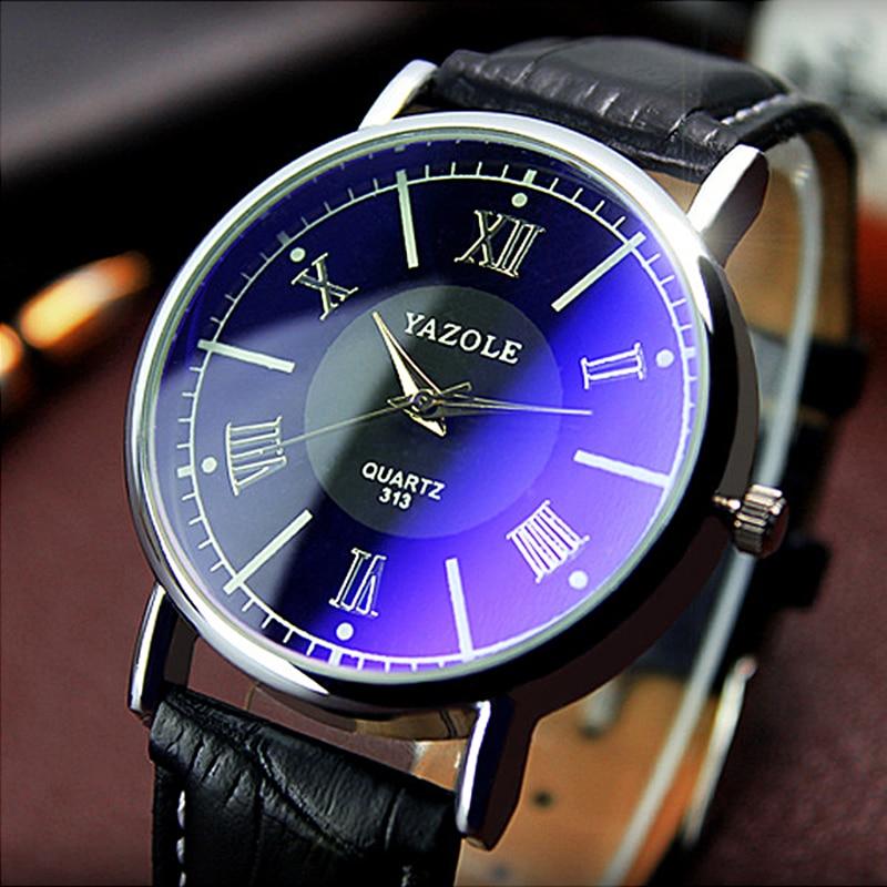 Бренд 2020, часы Yazole, Римский классический бутик, бизнес, тонкие парные часы, мужские часы, Blu-Ray Relojes Hombre, Relogio Masculino