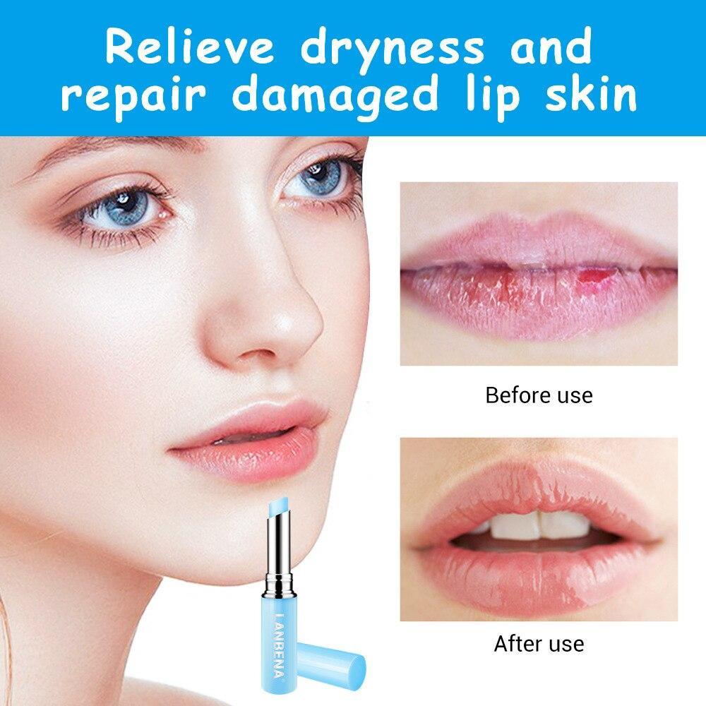 LANBENA-ácido hialurónico altamente bálsamo labial, nutritivo, hidratante, para reparar las arrugas de los labios, maquillaje, cuidado de los labios TSLM1
