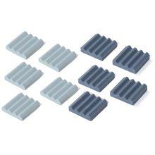 5Pcs 20x20x5mm Keramik Kühlkörper Anti-statische Kühler Kühler CPU Kühlung Dissipador Für raspberry Pi 3 2B Orange Pi Zubehör