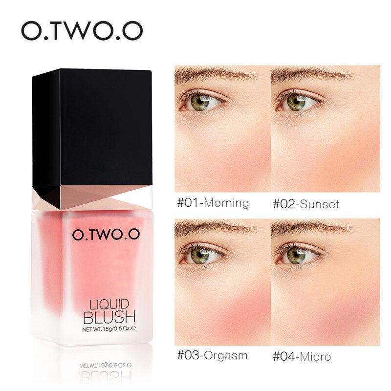 O.TWO.O Professional Makeup Liquid Blusher Sleek Blush Color Natural Cheek Blush Face Contour Make Up Korean Cosmetics Pink