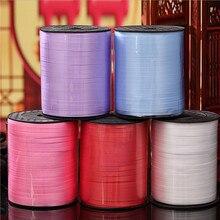 Cravates câble de ballons 500 Yards ruban en plastique   Papier-cadeau décoratif de mariage décorations de fête colorées de noël