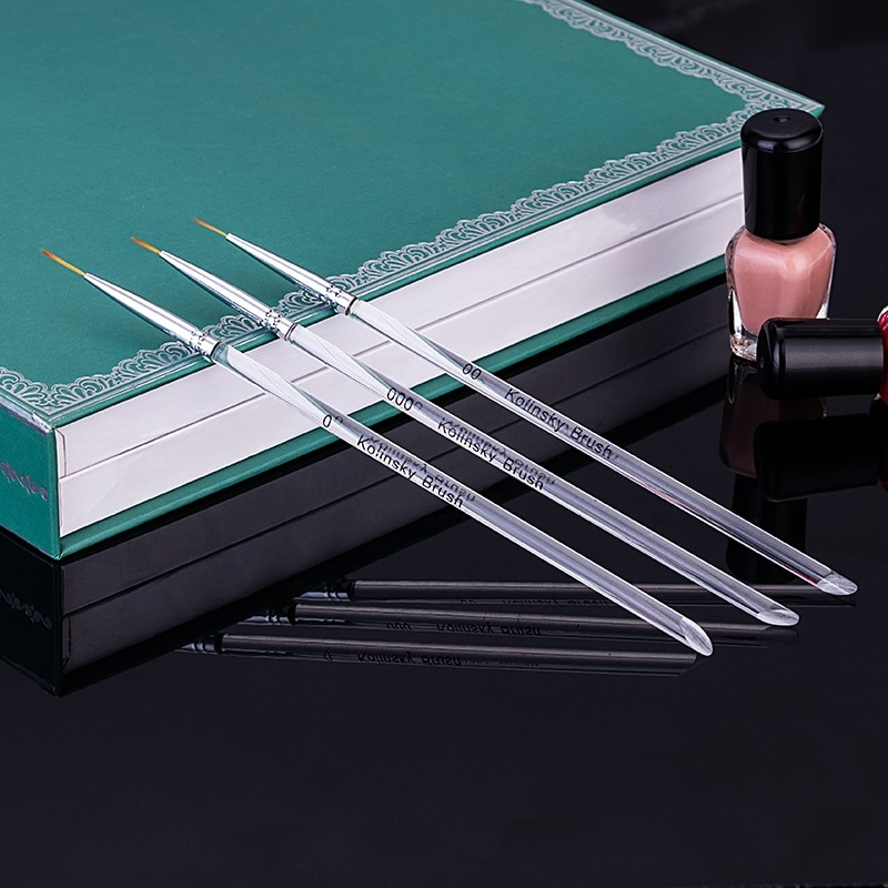 Nail Art Liner Painting Brush 7mm 9mm 11mm Nail Drawing Dotting Brushes UV Gel Acrylic Manicure Nails Brush Pen C113  - buy with discount