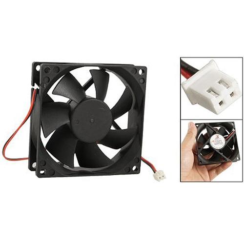 YOC-5* DC 12V Black 80mm Square Plastic Cooling Fan For Computer PC Case
