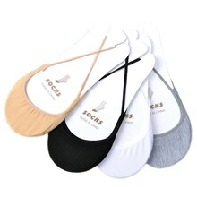 Fashion 2 Pair Cotton Comfortable Soild Half Sole Cover Invisible Sock Slippers For Women Wear High-