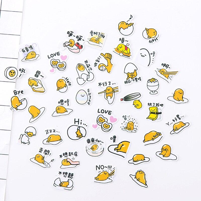 Pegatina de papel de gudetama de dibujos animados Kawaii girl bear, decoración DIY para álbum de recortes diario, etiquetas adhesivas, papelería, suministros escolares