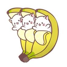 Kawaii Bananya chat broche banane bouquet broche mignon japonais anime inspiré bijoux