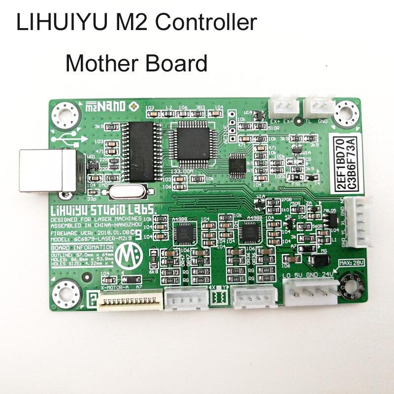 LIHUIYU M2 Nano controlador láser madre Tablero Principal placa madre sistema utilizado para Co2 cortador de grabado máquina 3020 4030 6040