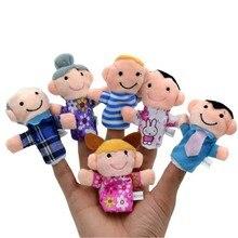 Jeu de famille bébé enfants en peluche jeu de jeu en peluche apprendre lhistoire marionnettes à doigt jouets 6 pièces/ensemble