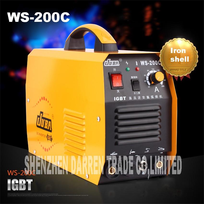 جديد المحمولة WS-200C IGBT العاكس ماكينة لحام بقوس غاز التنغستن الأرجون لحام لحام آلة لحام مقاومة للصدأ بغاز الأرجون سبيكة لحام