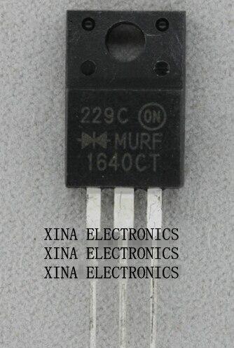 MURF1640 1640CT MURF1640CT 16A 400 V TO-220F ROHS ORIGINAL 10 Pçs/lote kit composição Eletrônica Frete Grátis