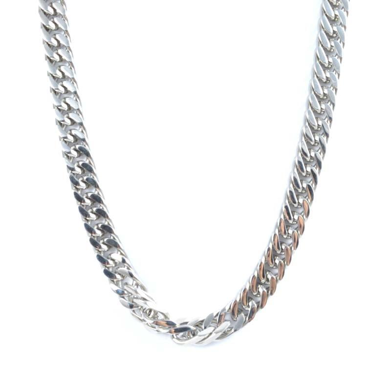 Collar de cadena gruesa para hombre, collar de cadena con cadena de eslabones de acero inoxidable de Color a la moda, collar con cadena de bordillo cubana para hombres, joyería para cuello